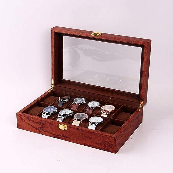 WATCHHE Organizador Madera Caja De Almacenamiento De Relojes ...