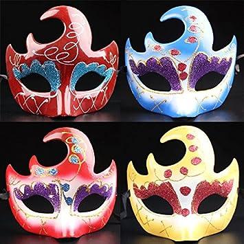 Máscara media cara de Halloween Halloween colorear zorro máscaras de danza noche de Venecia (colores