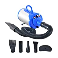 SHELANDY 3.2HP Stepless Adjustable Speed Pet Hair Force Dryer Dog Grooming Blower with Heater
