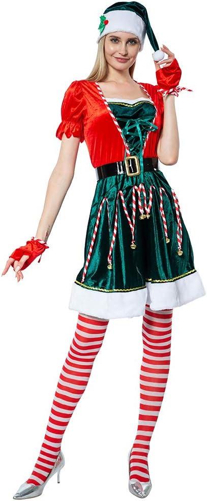 EraSpooky Disfraz de Duende Sexy de Navidad para Mujer Disfraz de ...