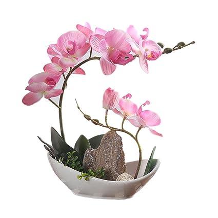 Arreglos Florales De Orquídeas Artificiales Con Jarrón De