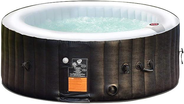 COSTWAY SPA Hinchable para 4 Personas 800 litros Bañera Jacuzzi de ...