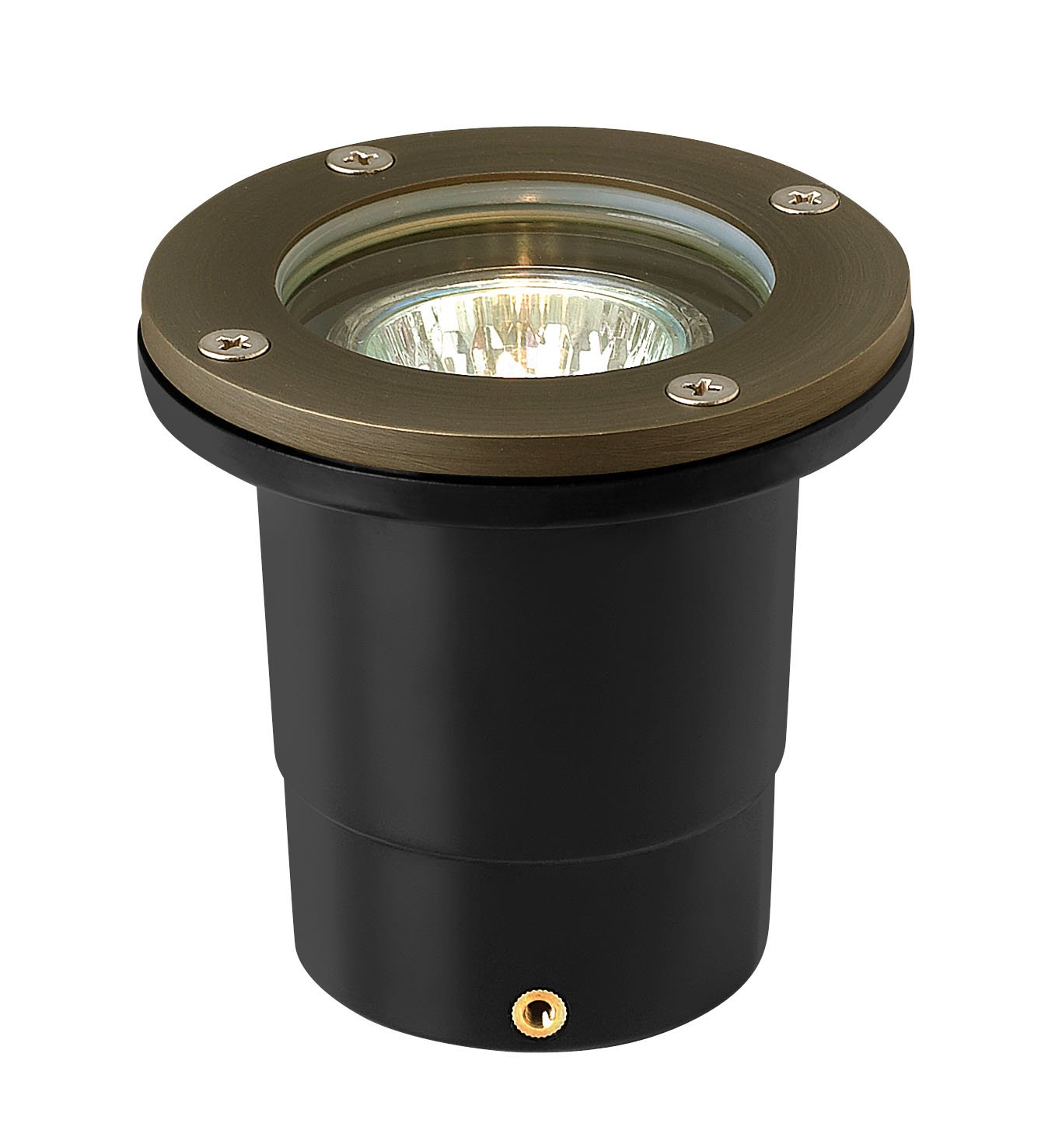 Hinkley Lighting Flat Top Well Light - Flat Top In-Ground Light That Highlights Important Landscape Features and Increases Home Security, Matte Bronze Finish, Hardy Island Collection, 16701MZ