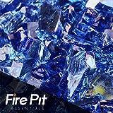 Deep Sea Cobalt Blue Reflective Fire Glass 1/4″ Firepit Glass Premium 10 Pounds Great for Fire Pit Fireglass or Fireplace Glass Review