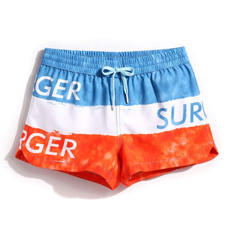 PREtty-2 Summer Board Shorts Mens Women Swimming Trunks Fast Dry Surf Swimwear Couple Beach Swimsuit,Gma1490 Men,XL