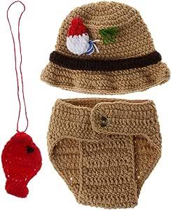 1 juego de disfraz de pescador para bebé, pantalones con sombrero ...