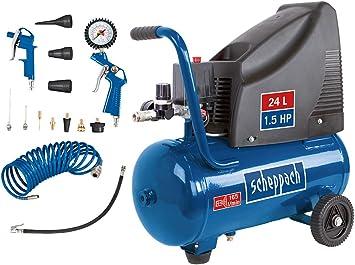 24L Druckluft Kompressor ölfrei 8 bar 1,5 PS 24 Liter incl viel Zubehör