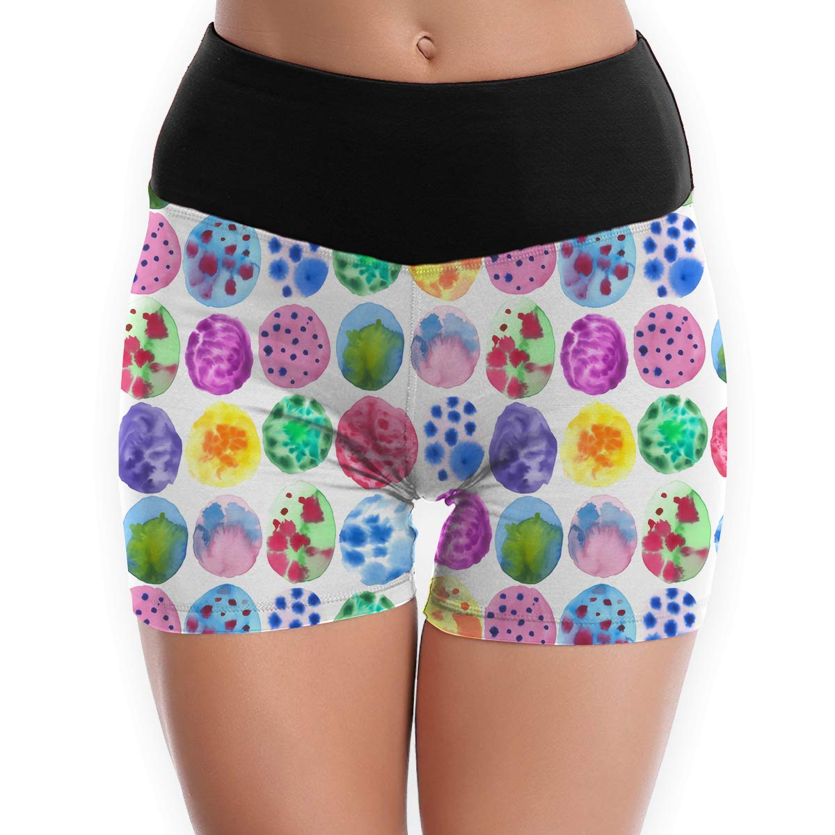 Matbt Happy Easter Eggs Yoga Tights Short Running Pants Workout