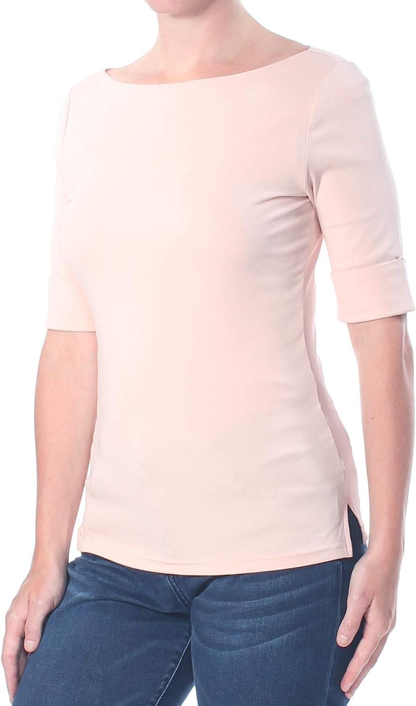 Lauren by Ralph Lauren blusa de punto grande con puños para mujer - Rosa - Large: Amazon.es: Ropa y accesorios