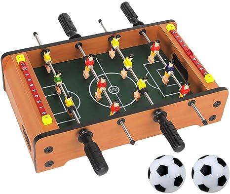 Mesa de fútbol - Mini juego de fútbol deportivo Arcade futbolín para niños, familia y fiesta: Amazon.es: Bebé