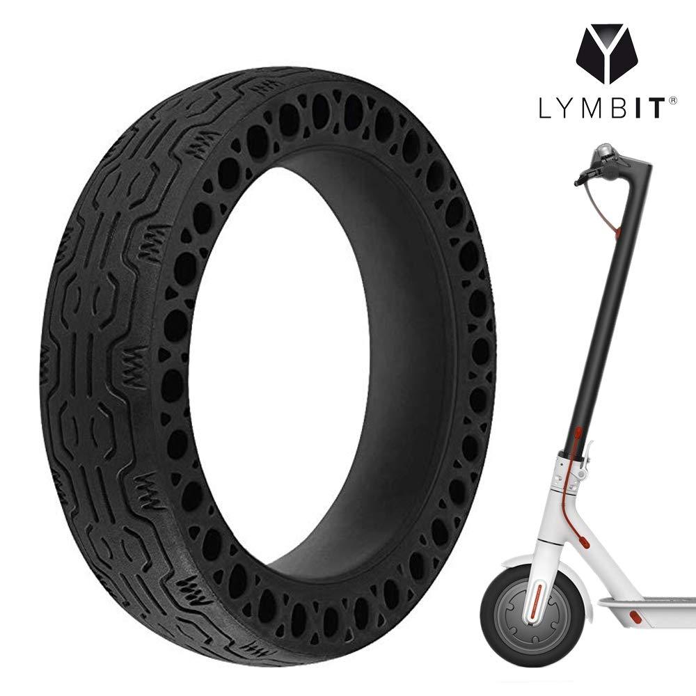 LYMBIT Neumático sólido antideslizante reemplazo para ruedas Llanta De patinete scooter eléctrico Xiaomi M365