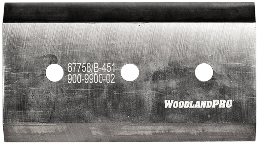 WoodlandPRO 7-1/4'' x 4'' x 3/8'' Chipper Knife for Bandit, Morbark & Woodchuck (R