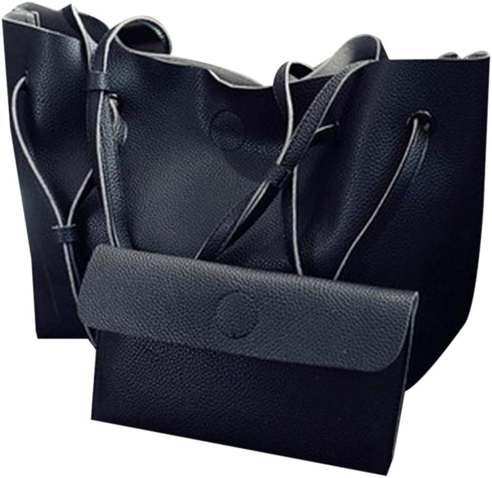 Litchi Pattern Handbag Fashion Large Shoulder Fiagonal Package Hit Color Mother Bag