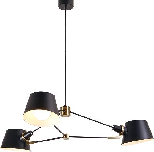 AIDOS 3-Light Midcentury Chandelier Light, Metal Sputnik Pendant Lights, Modern Ceiling Light Fixtures for Kitchen Island Dining Room Living Room