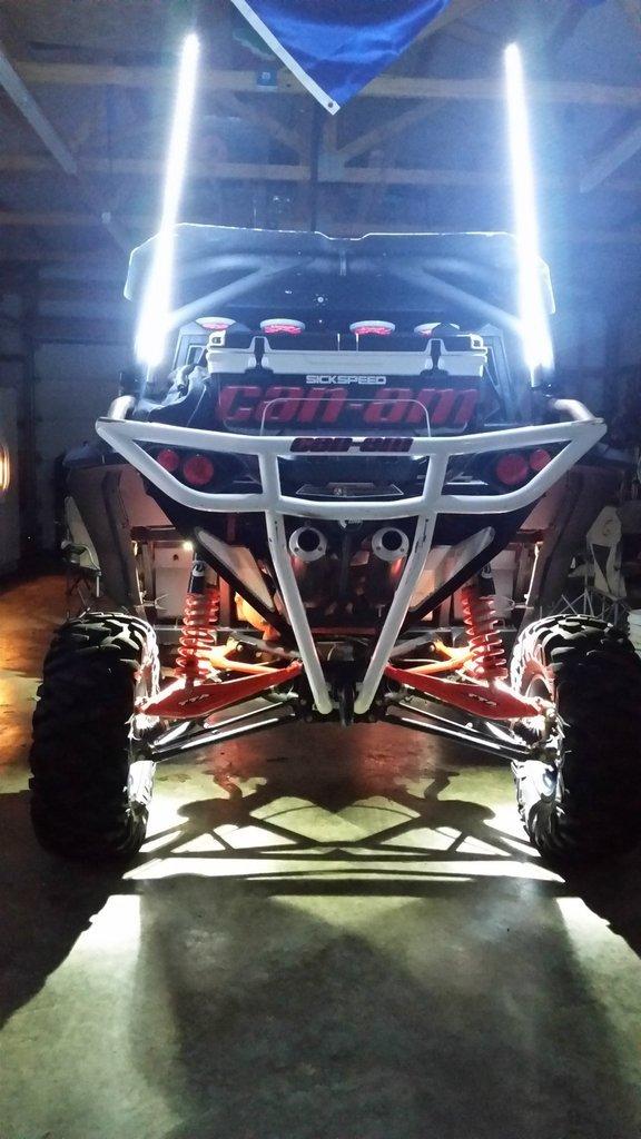 PAIR 2FT GREEN LED LIGHT WHIP ATV UTV SXS FX Whips