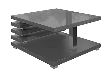 Tavolino da caffè tavolino da salotto tavolo oslo 60 x 60 cm lucida
