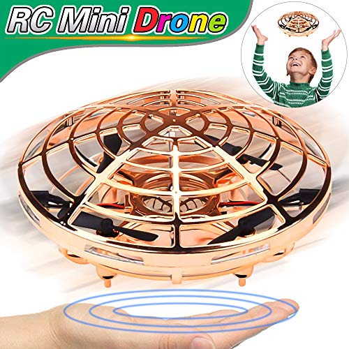 Mini Drone RC Toys for Kids, Flying Ball Hand Remote Controlled Quadcopter Light-Up Flying Toys 360° Rotating Magic Floating Helicopter Toys 2019 New Birthday Valentines Day Gifts for Kids Boys Girls