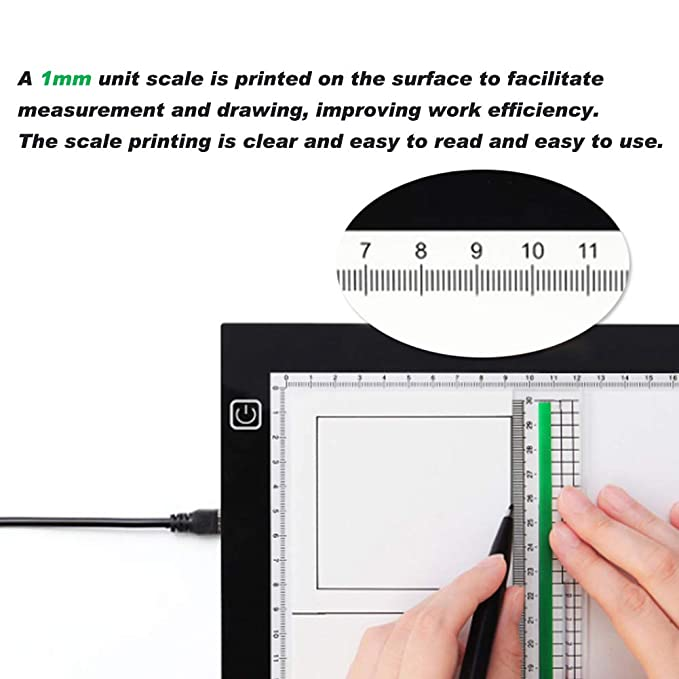 wxnd A4 CALCO Light Box, A4 Tableta Luminosa,3 Ajustable Niveles ...