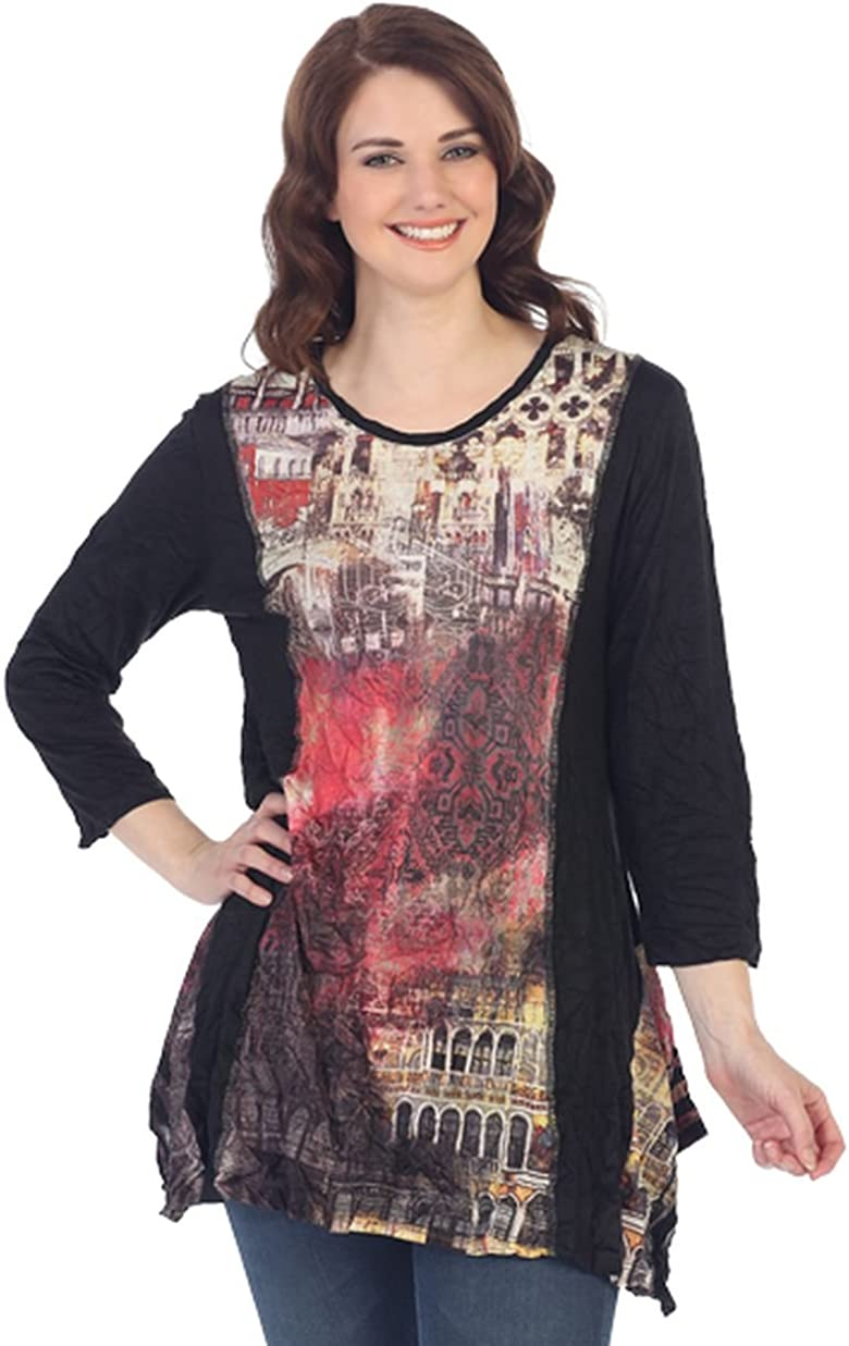 SONJA BETRO Womens Crinkled Woven Lace Trim V-Neck Cape Tunic Kaftan