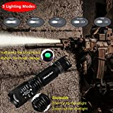 Morpilot Tactical Flashlight Set, Tactical LED Torch, 5 Mode Portable Handheld LED Flashlight, Outdoor Water Resistant Torch for Camping, Hiking, Backpacking, Fishing / Rescue Pocket Knife