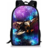 e1abf58b538e Amazon.com | Boys Middle School Backpacks Cool Galaxy Wolf Printed ...