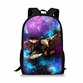 af254adc317b ... finest selection 353bb d2334 Cool School Bags For Girls Lightweight  Durable Daypack Backpack Starry Sky Eagle ...
