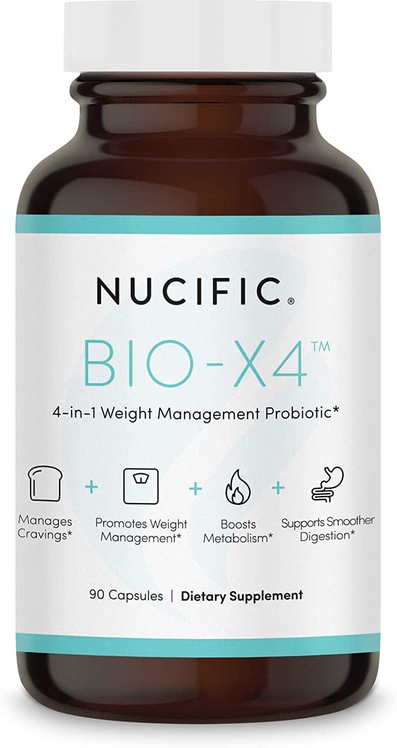 Amazon.com: Nucific® Bio-X4 4-in-1 Weight Management Probiotic Supplement,  90 Count.: Health & Personal Care