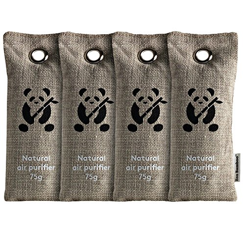 g Bags by ZooBamboo. Activated Bamboo Charcoal Deodorizer Bags. Odor Eliminator for Cars, Homes, Closets, Bathrooms and Pet areas. Absorbs Odors and Allergens. (4 x 75g) (Cedar Pine Armoire)