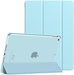Dadanism iPad 8th Generation Case 2020/iPad 7th Generation Case 2019, [Shock Absorption] Ultra Slim Lightweight Trifold Stand Smart Cover for iPad 10.2 inch 2020/2019 Release Tablet, Sky Blue