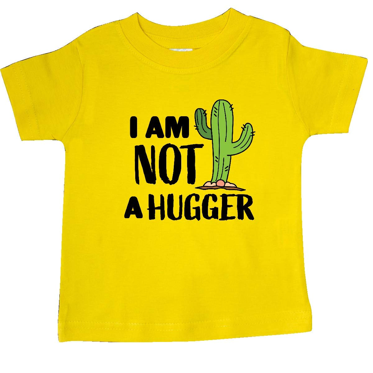 inktastic I Am Not a Hugger with Cactus Baby T-Shirt