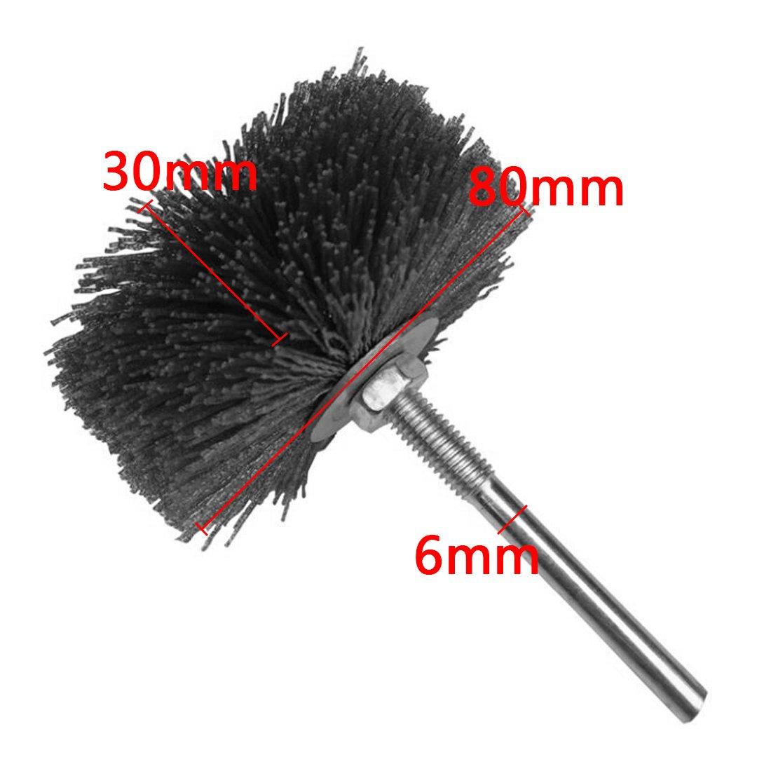 Abrasive Nylon Rad Pinsel Radial Polierb/ürste f/ür Holz M/öbel Mahagoni Finishing Metall Stein ODOD85mm 1 St/ück Schwarz 120#