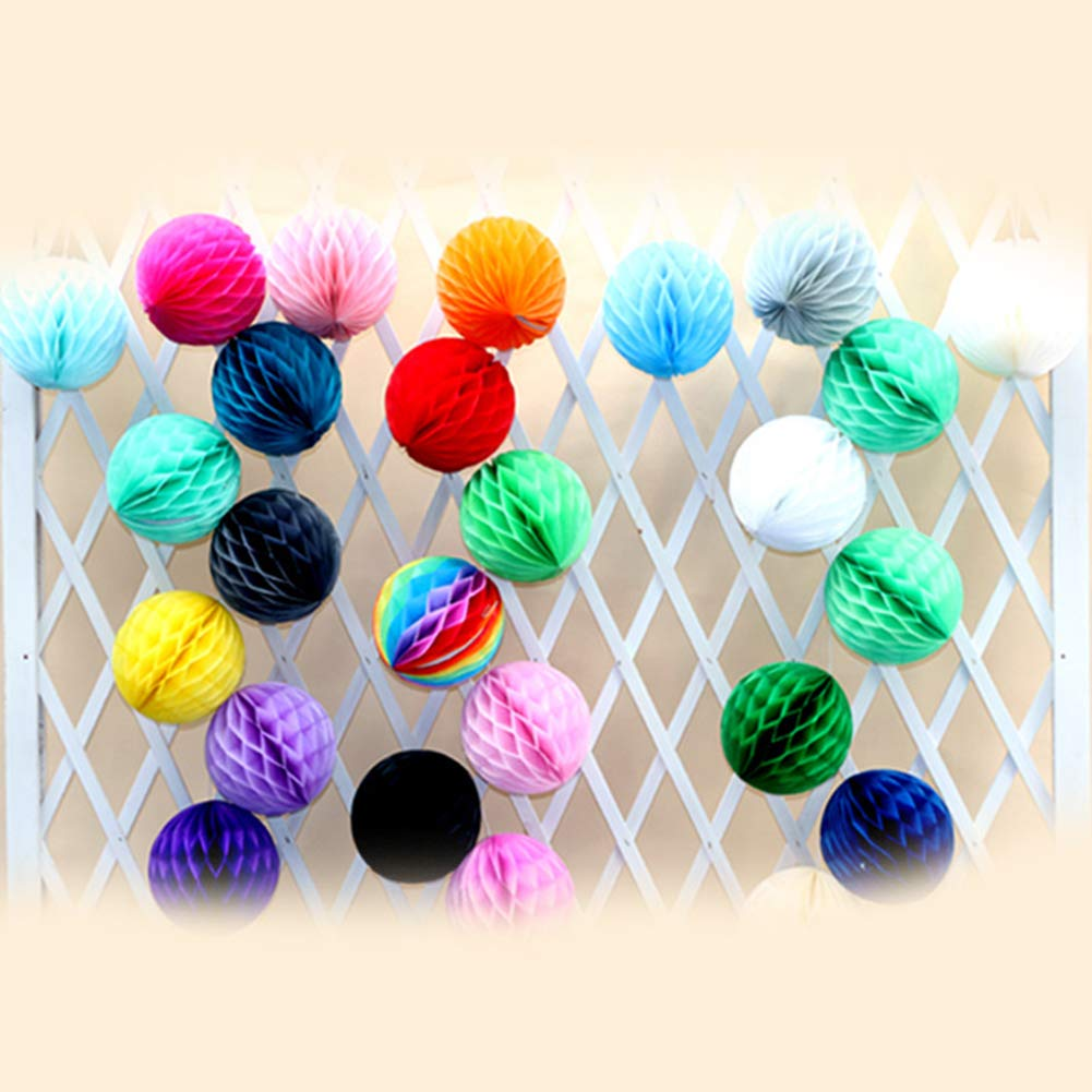 Dds5391 Refined 8/16in Fashion Solid Color Tissue Paper Pompom Ball Hanging Wedding Party Decor - Yellow 16 in by dds5391 (Image #4)