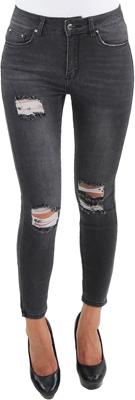 SOTALA Damen High Waist Jeans Hose Skinny Stretch Slim Fit Röhren Hochschnitt