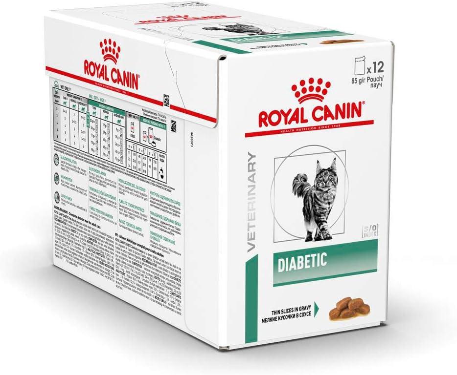 Royal Canin C-583938 Feline Diabetic, Comida para gatos, 100 gr, 12 sobres