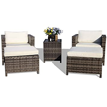 amazon com super patio patio furnituire set all weather grey