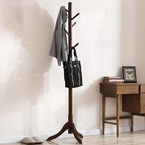 Amazon.com: Perchero de madera para el suelo o el dormitorio ...