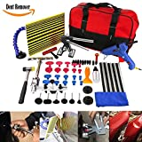 WHDZ Auto Body Paintless Repair Removal Tools Automotive Door Ding Dent Silde Hammer Glue Puller Repair Starter Set Kits For Car Hail Damage And Door Dings Repair