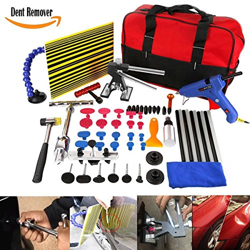 WHDZ Auto Body Paintless Repair Removal Tools Automotive Door Ding Dent Silde Hammer Glue Puller Repair Starter Set Kits For Car Hail Damage And Door Dings Repair by WHDZ