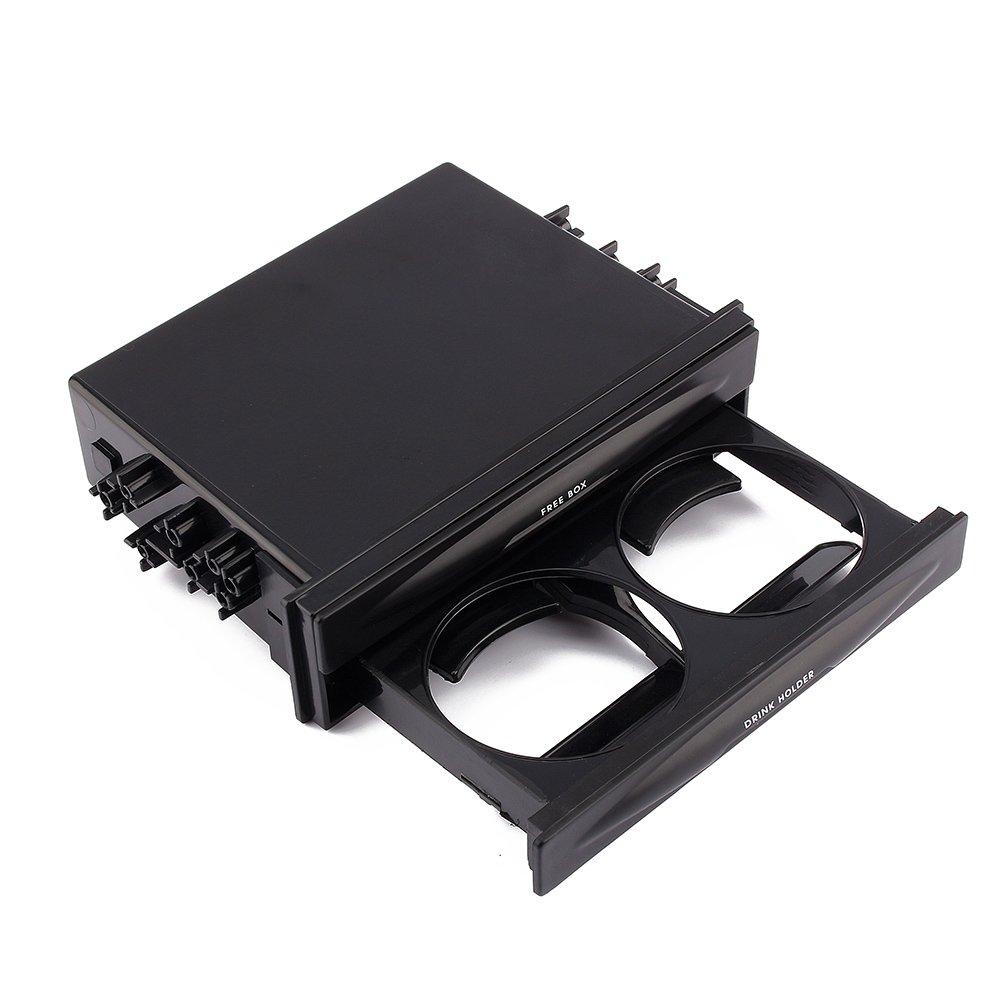 Car Auto Single Din Radio Pocket, Universal Cd Radio Pocket Drink Cup Holder Storage Box, Black by Keenso