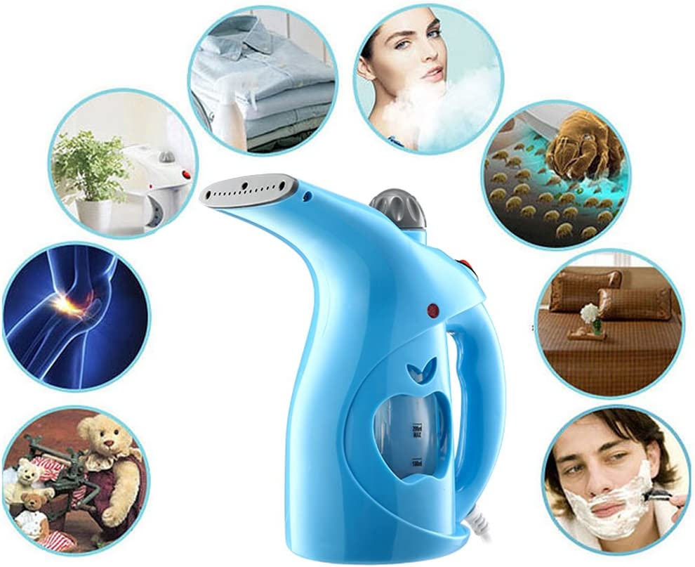 Clothing Steamer High Quality PP 200Ml Portable Handheld Clothes Iron Steam Brush Household Humidifier Facial Steamer Large Capacity Family and Travel,White