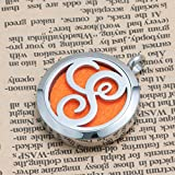 Third Time Charm S Letter Monogram Initial Necklace Aromatherapy Essential Oil Diffuser Necklaces Pendant,12 Refill Pads