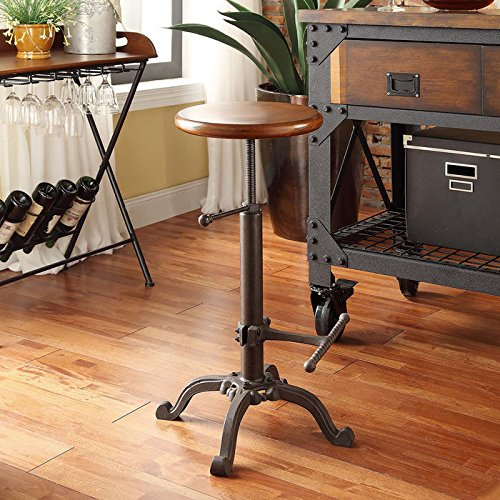 Carolina Cottage Justin Adjustable Stool (Furniture Carolina Rustic)