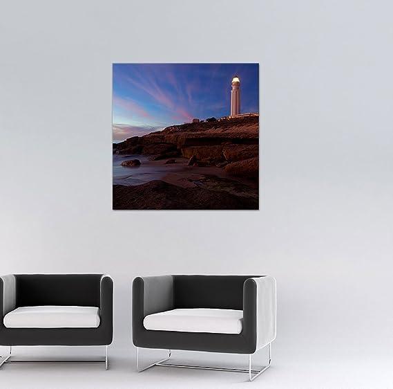Bilderdepot24 Cuadros en Lienzo Faro de Trafalgar Cadiz - 40 x 40 ...