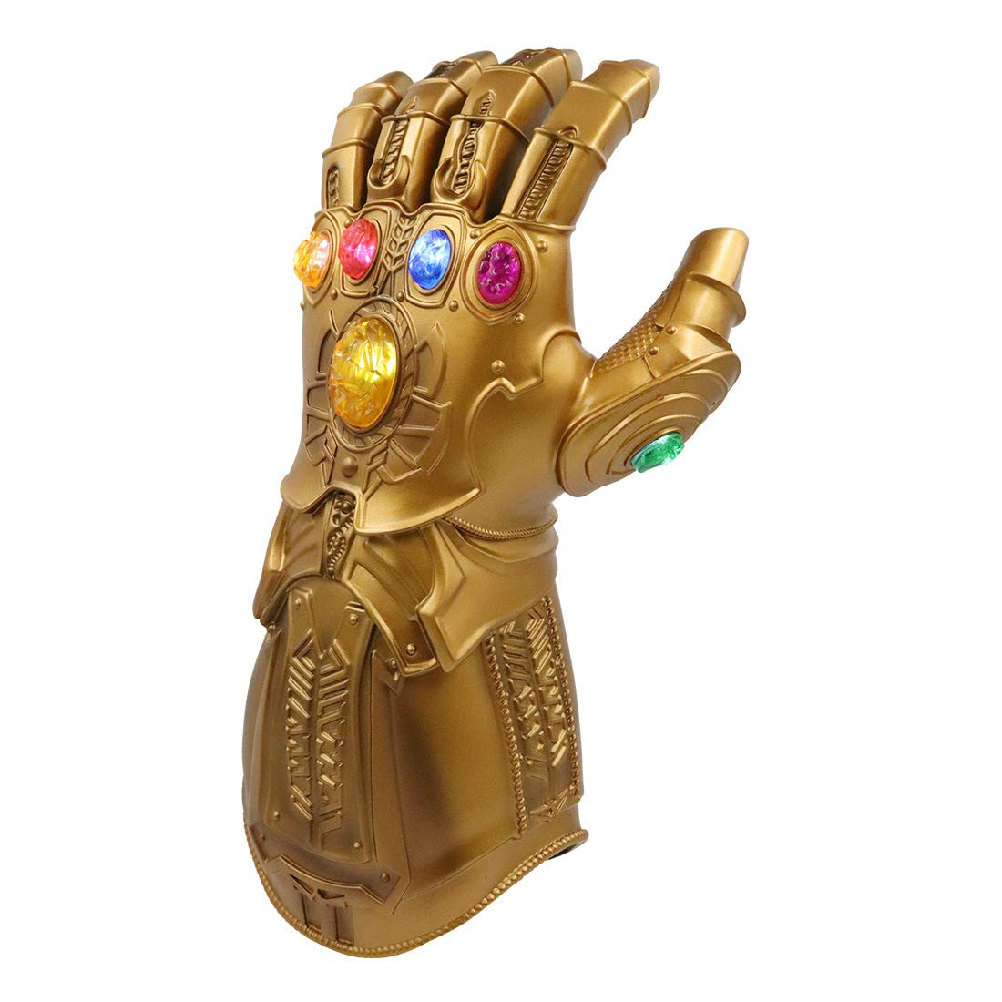 Avengers Infinity Guanto con Illuminazione Elettrica per Gauntlet Souvenir Avengers Adatto per Marvel Fan Womdee Thanos Guanto Adatto ai Bambini 30 * 12cm