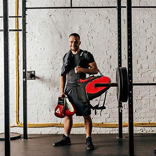 d91f20a772 RDX Gym Holdall Gear Bag Backpack Duffle Kit Sports Gymsacks Rucksacks
