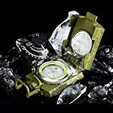 Arifaz Military Marching Compass - Waterproof and Shakeproof - Army Pocket Size - Easy Map Navigation Professional Grade Survival & Mapping Gear - for Outdoor, Camping and Hiking