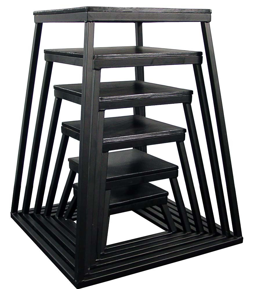 Black Plyometric Platform Box (6''-42'' 7 Pcs Black)