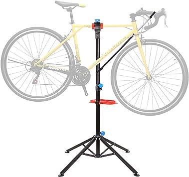 Femor Soporte de Reparación de Bicicletas, Caballete Reparación para Bicicleta, Altura Ajustable, Portátil, Plegable, para Mantenimiento de ...
