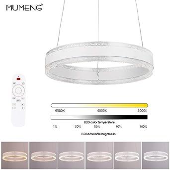 Suspension LED Lustre Moderne Plafonnier - Chambre Lampe Suspendus  Luminaire, 3000K-6000K Télécommande Dimmable, 36W, AC220V (Remote control)