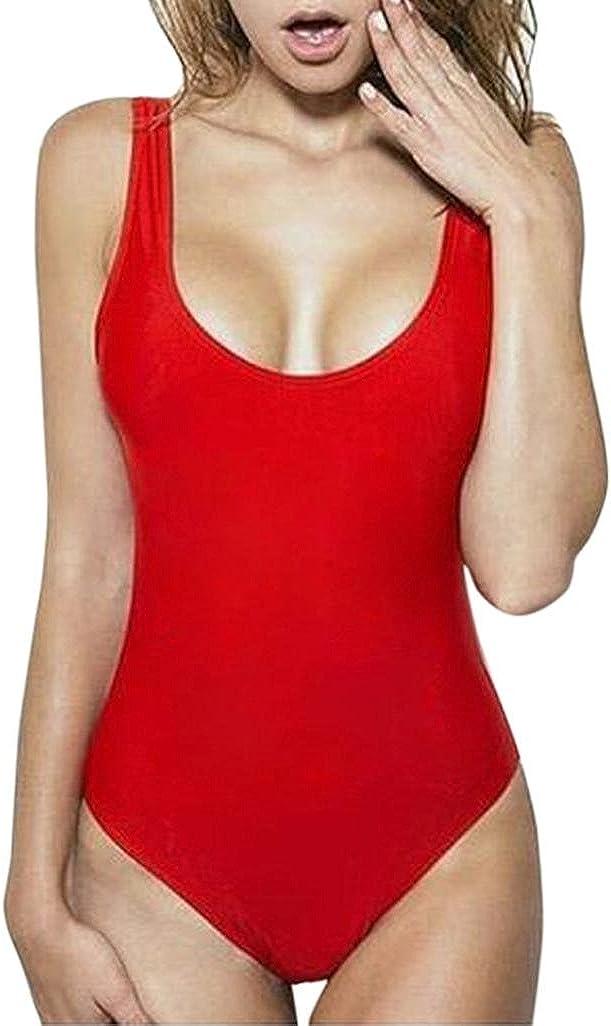 Cinnamou Traje de baño de Playa de una Pieza para Mujer Bañador de baño Monokini Push Up Bikini Acolchado
